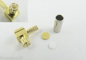 50pcs MCX Male Plug Right Angle Crimp For RG174 RG316 RG188 Cable RF Connector