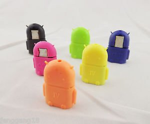 Mini Robot USB A Female to Micro USB Male Host OTG Adapter Converter for Android