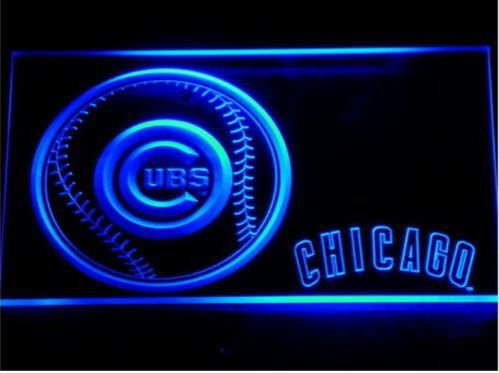 Chicago Cubs Baseball LED Neon Sign Free shipping to the United States