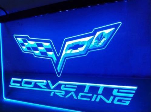 Chevrolet Corvette Racing beer bar pub club 3d signs LED Neon Sign man cave