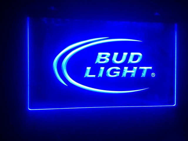 Bud Light Beer Bar LED Neon Sign Men Man Room Bar Cave Gift