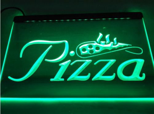 Pizza Slice Display NR LED Neon Light Sign home decor crafts