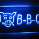 BBQ Pig Logo Beer Bar Pub Store Light Sign Neon MAN CAVE