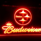 Pittsburgh Steelers Budweiser Neon Sign for Game Room,Office,Bar,Man Cave, Decor NEW