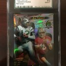 1996 Joe Namath Steve Young Topps 40th Anniversary Refractor Graded SGC 92