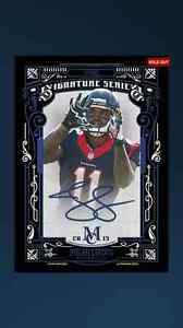 Topps Huddle Jaelen Strong Museum Collection Signature Series Blue Auto Texans