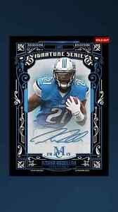 Topps Huddle Ameer Abdullah Museum Collection Signature Series Blue Auto Lions