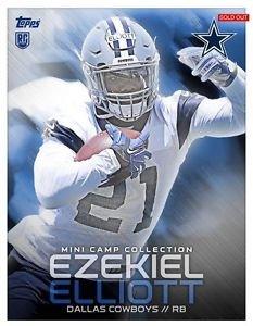2016 Ezekiel Elliott Topps Huddle Mini Camp Collection Digital Card RC Cowboys