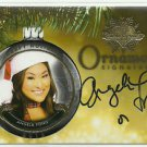 2015 Angela Fong Benchwarmer Holiday Past & Presents Ornament Signatures Auto