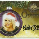 2015 Bobbi Billard Benchwarmer Holiday Past & Presents Ornament Signatures Auto