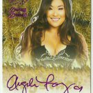 2015 Angela Fong Benchwarmer Daizy Dukez Purple Haystack Auto Sig Autograph