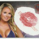 2005 Michelle Baena Benchwarmer Kiss Card Kissed by Model