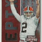 2014 Johnny Manziel Panini Totally Certified Epix Play Red Jersey Card Browns