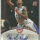 2012 Herb Pope Leaf Signature Series Autograph Seton Hall Auto Signature