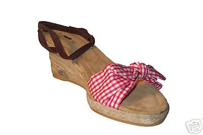 NEW J CREW RED/WHITE GINGHAM ST. TROPEZ ESPADRILLES - 7