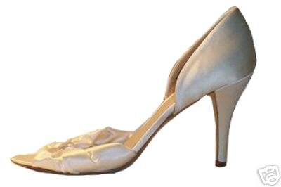 NEW J CREW HADLEY SATIN KNOTTED D�ORSAY HIGH HEELS sz 8