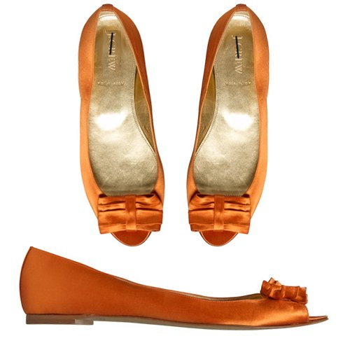 NEW J CREW DANIELA SATIN BALLET FLATS in MANDARIN ORANGE sz 6