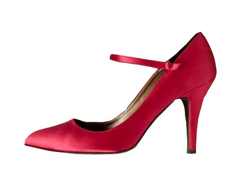 NEW J CREW SATIN MARY JANES HEELS in BRIGHT ROSE sz 9