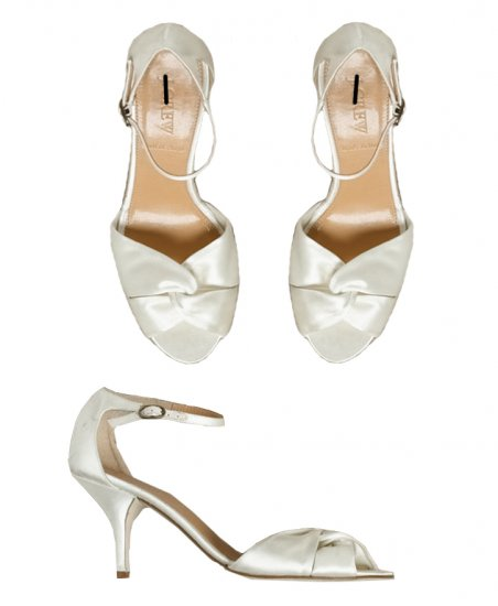 NEW J CREW ALEXIA SATIN HEELS in IVORY sz 9