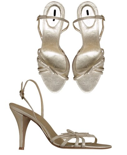 NEW J CREW PLATINUM GOLD LUCIE HIGH HEELS sz 7.5 $168