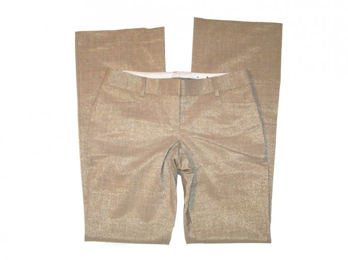 NEW EXPRESS EDITOR PANTS in METALLIC GOLD size 0