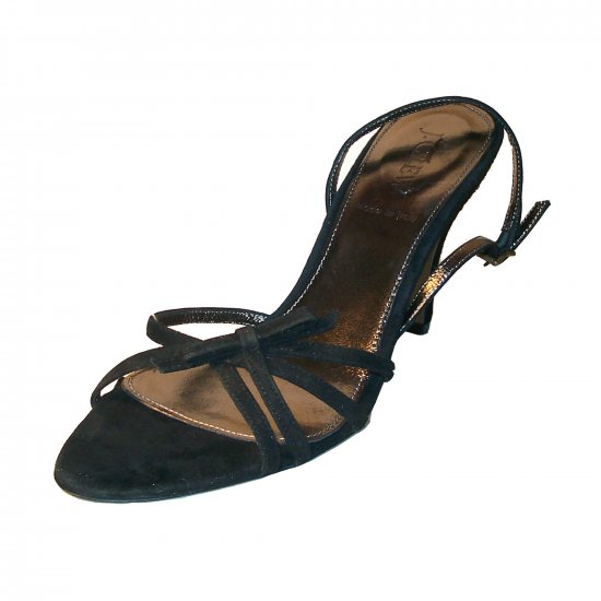 NEW J CREW BLACK SUEDE LUCIE HIGH HEELS sz 9 $168