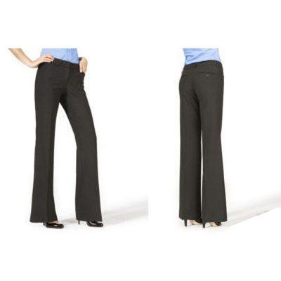 NEW EXPRESS EDITOR BLACK LUXURY STRETCH DRESS PANTS 2L