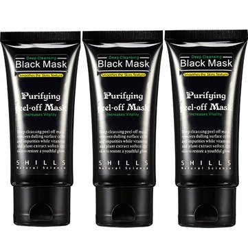 3pcs SHILLS Blackhead Peel-off Removal Black Mask Purifying Smoothes Skin Deep Cleansing