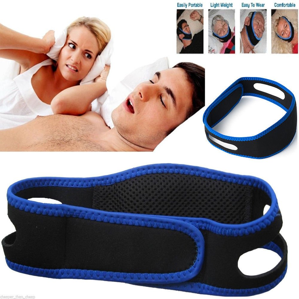 Anti Snoring Snore Stopper Chin Jaw Strap Supporter Sleep Improving Belt Brace