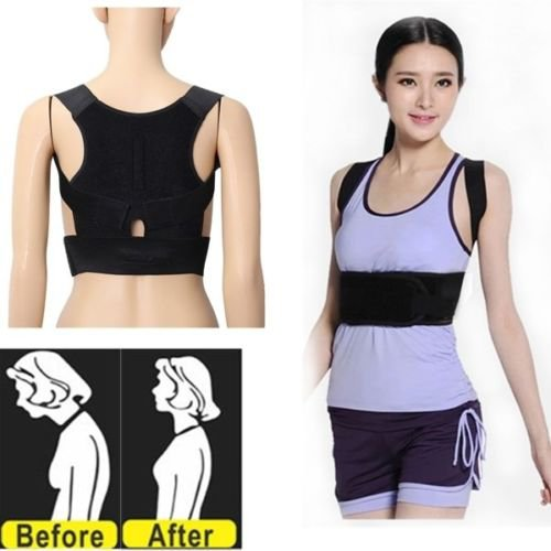Back Support Belt Lumbar Shoulder Posture Spine Correction Straighten Brace