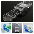 Pill Tablet Cutter Medicine Organizer Compartment Storage Box