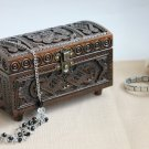 Wooden Storage Chest Jewelry Wooden carved box for accessories