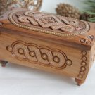 Carved wooden box with inlay Wooden Storage Chest Jewelry