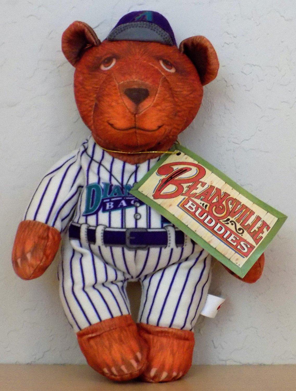 "Arizona Diamondbacks 'Beansville Buddies' 8"" Plush Teddy Bear Bean Bag (NWT)"