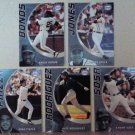 Set of 5 TOPPS Baseball Trading Cards, 2002 In-Box Premium For NESTLE Ice Cream