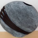 """Vintage Pottery Pillow Vase in Black & Gray by """"Vases of the Heart"""" (1997)"""