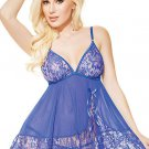 Blue Lace Babydoll