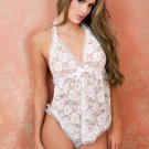 Floral Lace Halter Apron Babydoll