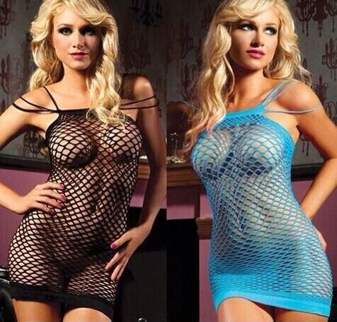 Seductress Seamless Fence Net Mini Dress Lingerie