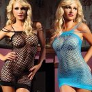 Seductress Seamless Fence Net Mini Dress Lingerie