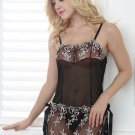 Lace Chemise With Delicate Embroidered Floral Prints
