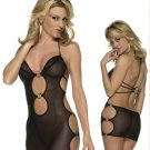 Sexy Cut Out Mesh Lingerie With Ring Details