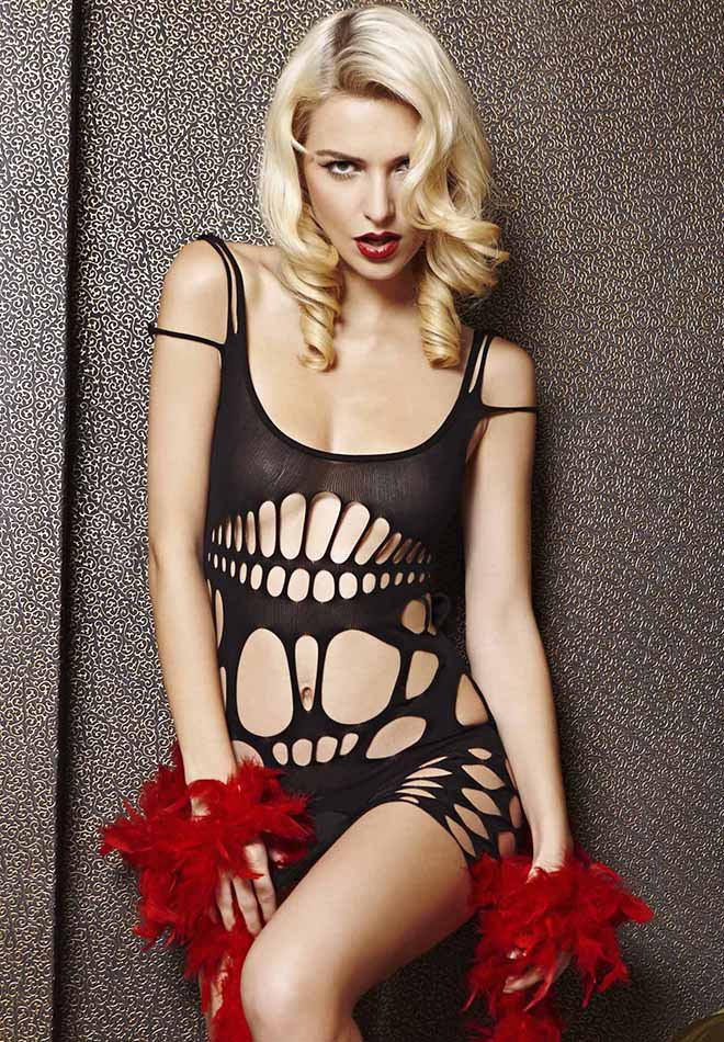 See Through Hollow-out Chemise Dress