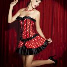 Polka Dots Printed High Neck Strapless Corset
