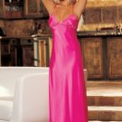 Glamorous Charmeuse and Lace Long Gown
