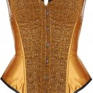 Bronze Sequin Burlesque Corset