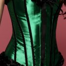 Green Strapless Burlesque Corset
