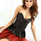 Strapless Pleated Burlesque Skirted Corset