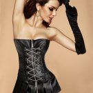 Faux Leather Chains Corset And Skirt