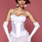 White Peasant Burlesque Corset